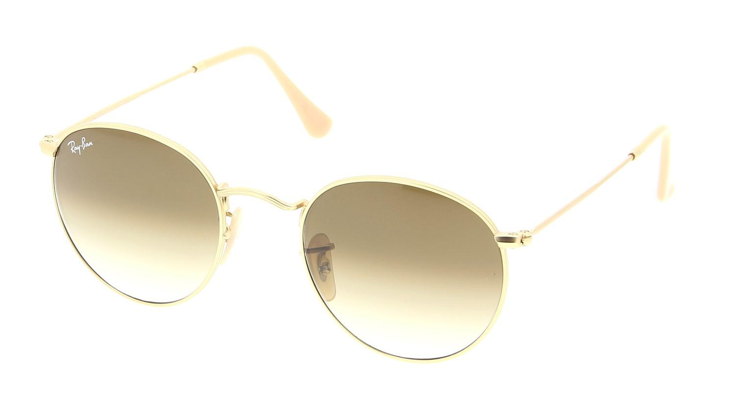 200c55c6c3 Lyst - Ray-Ban 0rb3447 112 51 50 Matte Gold clear Gradient Brown ...