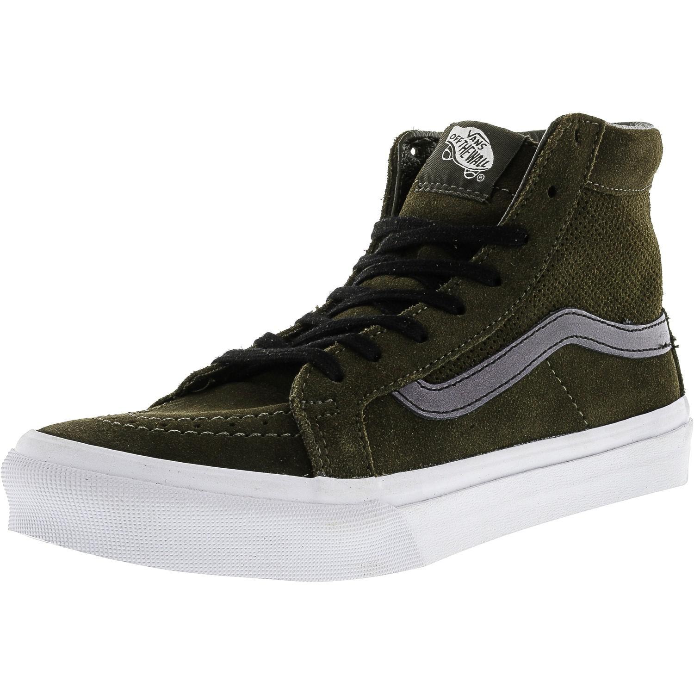 e12cbf529d Lyst - Vans Sk8-hi Slim Cutout Green Sneakers in Black for Men