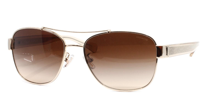 1e3168b1a6 ... sale lyst coach hc7064 926513 56 silver rectangle sunglasses in  metallic 736ec 26f39