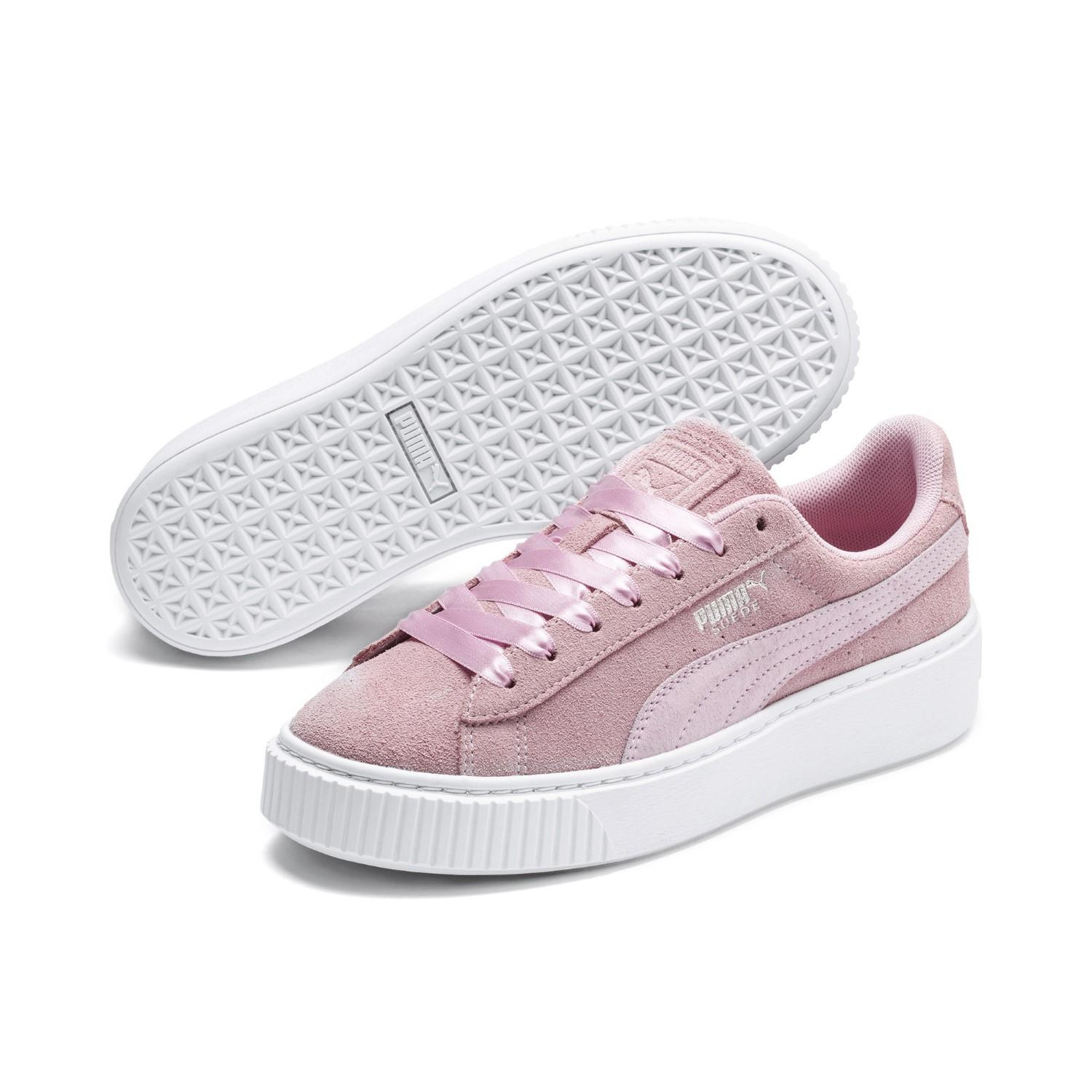 Pink Lyst Sneakers Puma Galaxy In Suede Platform 0wN8mn