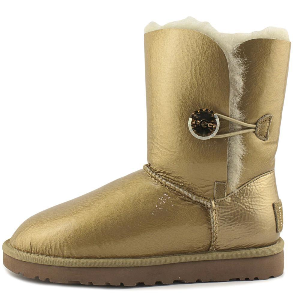 Lyst UGG Bailey Button Mirage Women Us 7 Gold Snow Boot