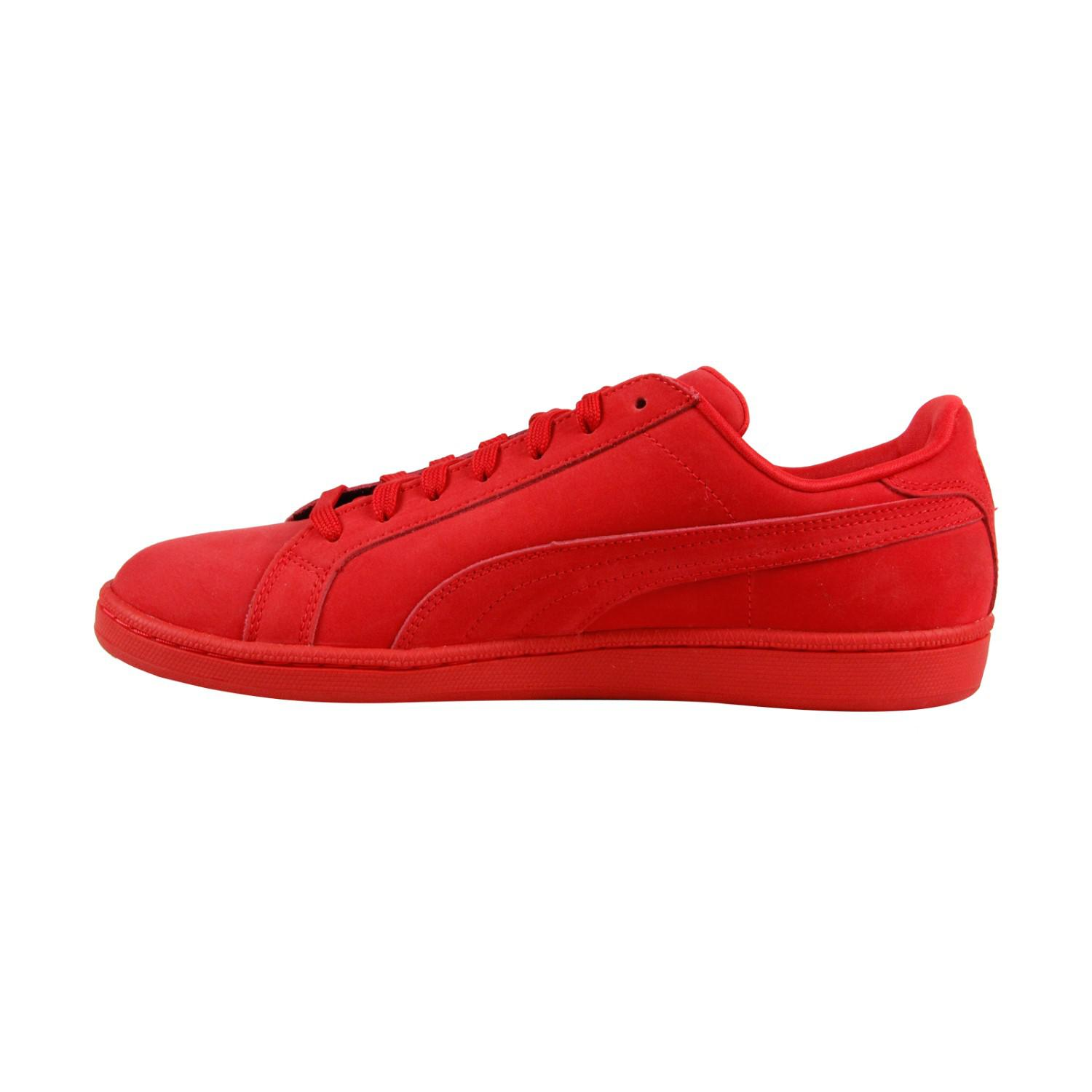 b532237e0c6 Lyst - PUMA Smash Buck Mono High Risk Red Mens Lace Up Sneakers in ...