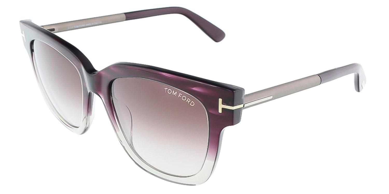 247a72e91de Lyst - Tom Ford Tracy Tf 436 83t Clear Havana Purple Gray Gradient ...