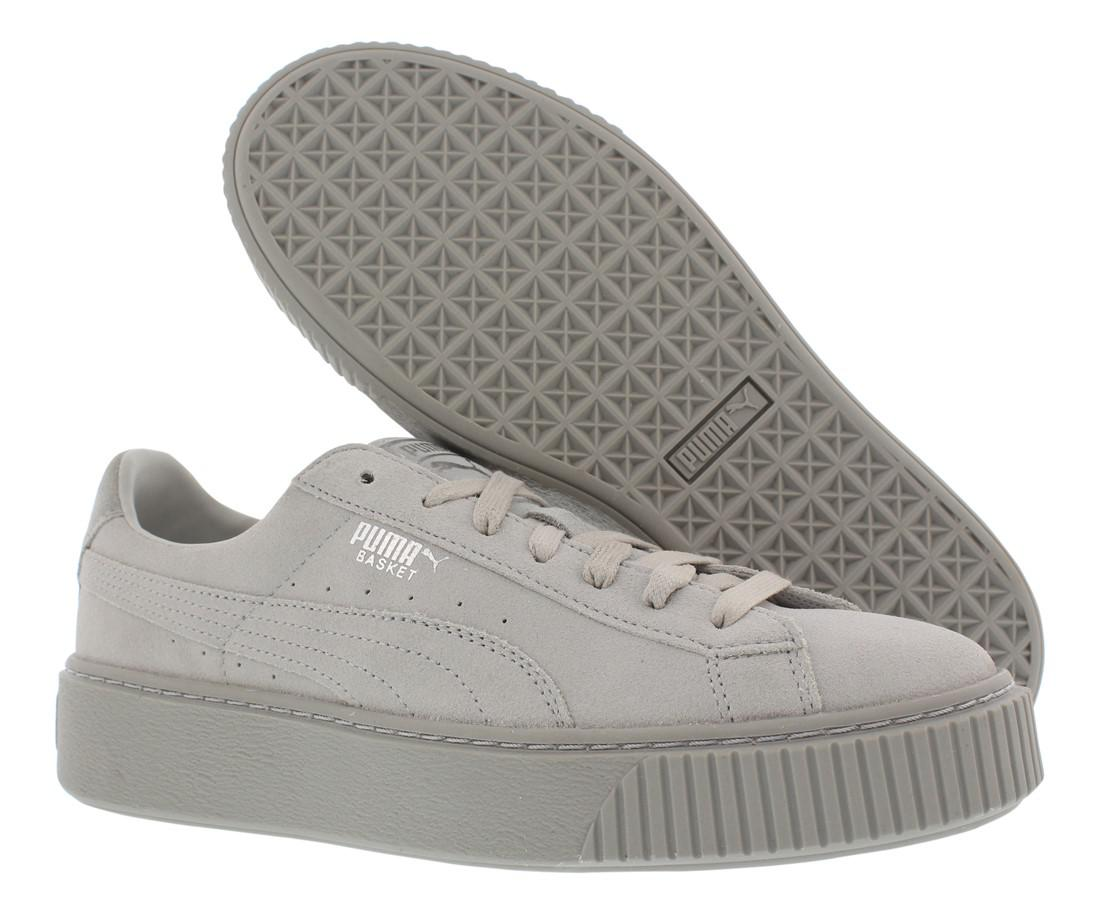 Lyst - Puma Basket Platform Reset Wn s Athletic Shoes in Gray 2a2e6be5fdf1c
