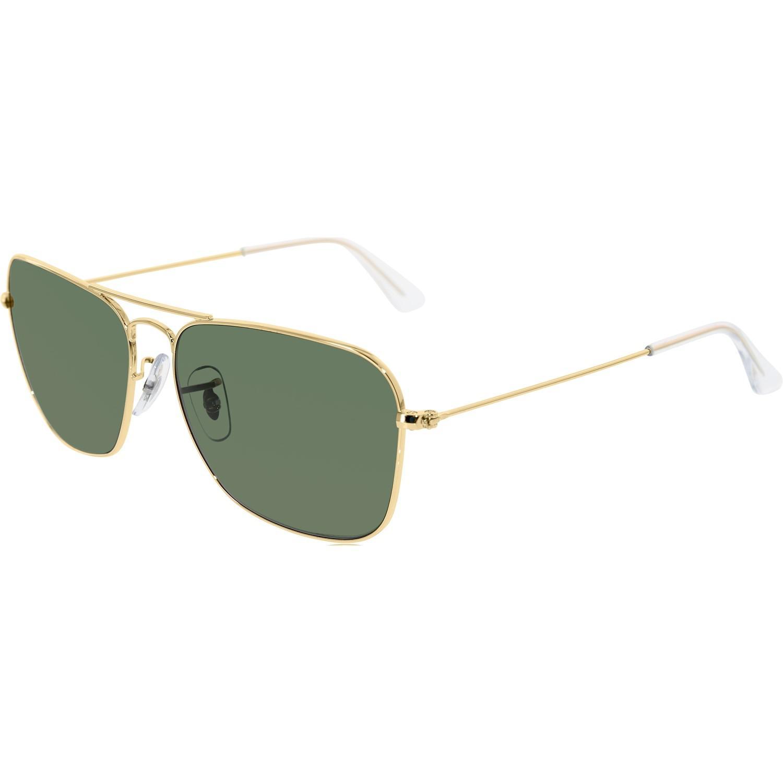 da9f509567d Ray-Ban - Metallic Caravan Arista Frame Green Lens Sunglasses Rb3136 001  58-15 for Men - Lyst