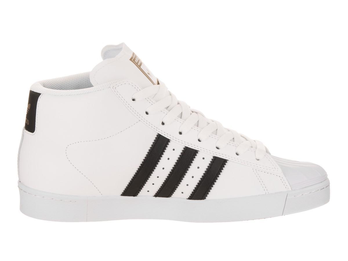 watch 87c0a f21c7 Lyst - adidas Pro Model Vulc Adv Ftwwht cblack goldmt Skate Shoe 9 ...
