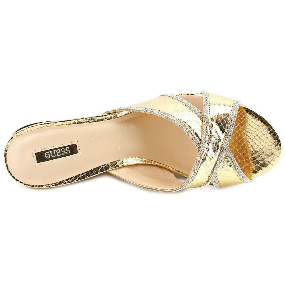 05e689c5993 Lyst - Guess Eleonora 4 Women Us 7 Gold Wedge Sandal in Metallic