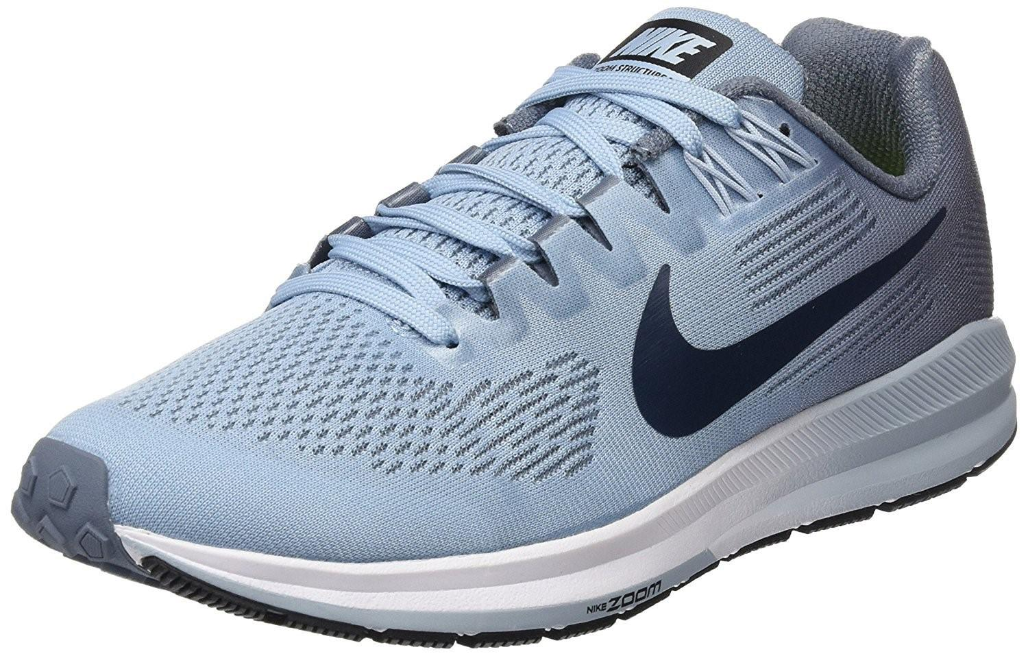 6b1cd410449 Lyst - Nike Air Zoom Structure 21 Running Shoe in Blue for Men