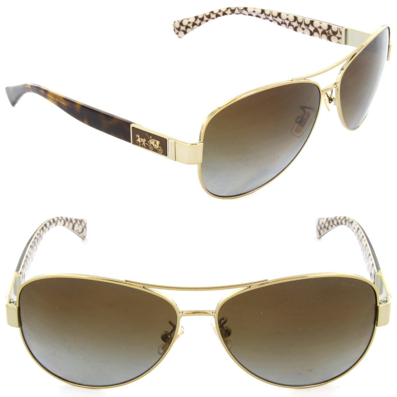 914f7fda9d44 where to buy lyst coach hc7047 l103christina sunglasses gold dark tortoise  sand 13fe6 3e61a