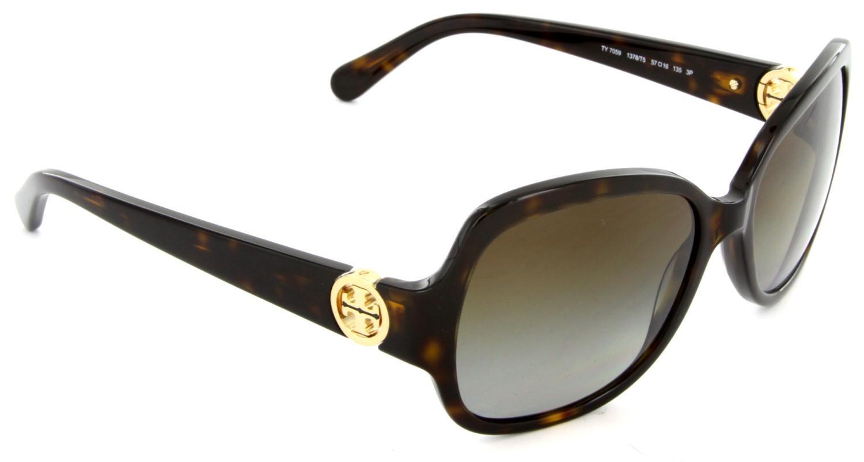 dc96fb396b869 Tory Burch - Brown Ty7059 Sunglasses Havana  Gradient Polarized - Lyst.  View fullscreen