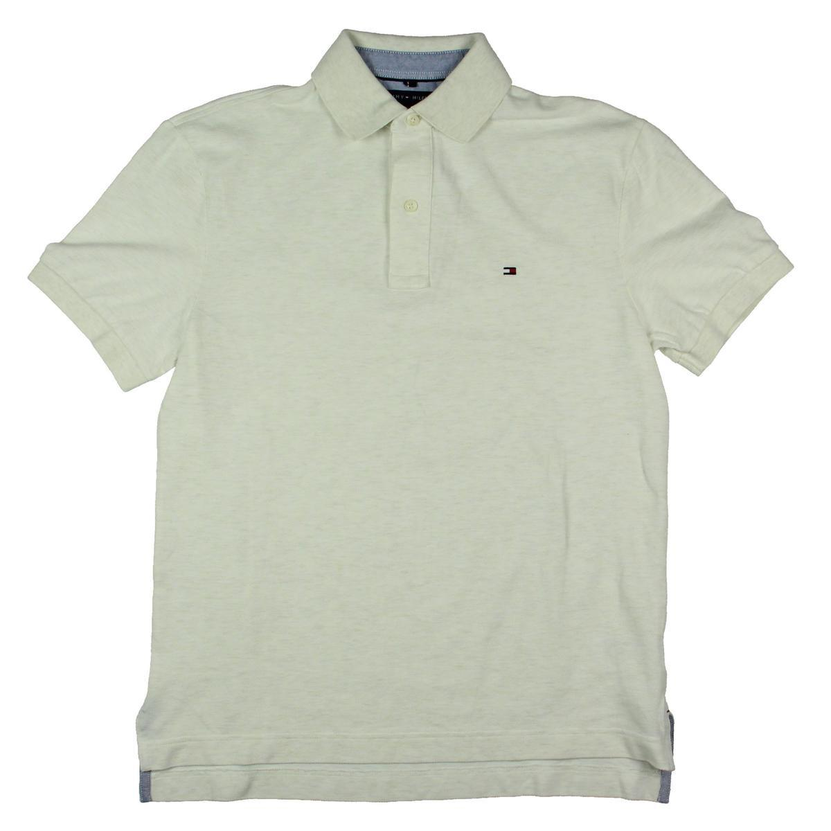 Lyst Tommy Hilfiger Mens Cotton Pique Polo Shirt In White For Men
