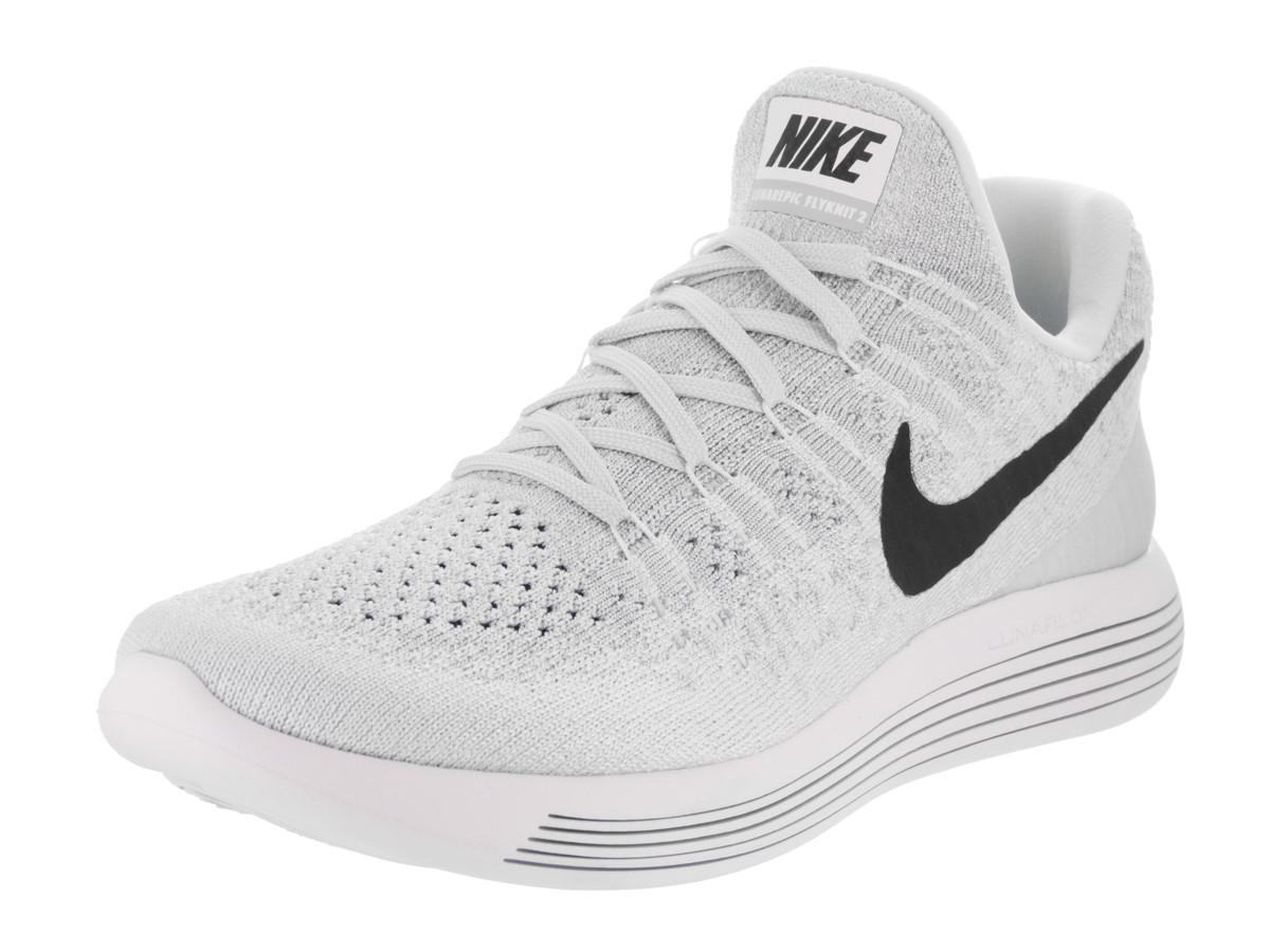 2b9b7a4920550 Lyst - Nike Lunarepic Low Flyknit 2 White black pure Platinum ...
