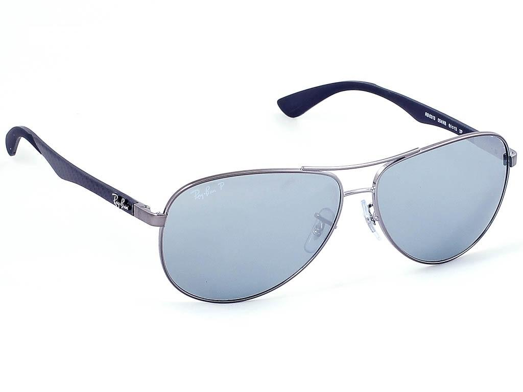375983f11eb Lyst - Ray-Ban 0rb8313 004 k6 58 Shiny Gunmetal blue Mirror Silver ...