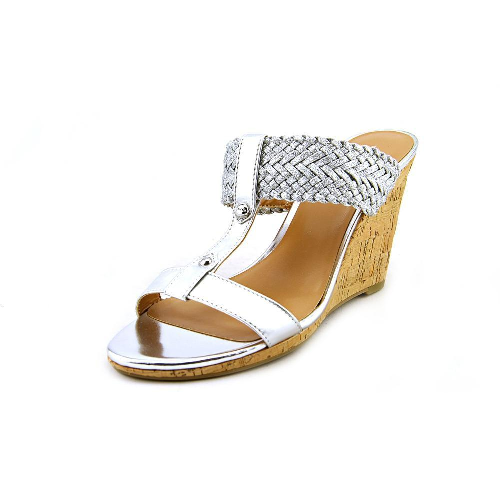 9d3a380b660da9 Lyst - Tommy Hilfiger Eleona Women Us 7.5 Silver Wedge Sandal in ...