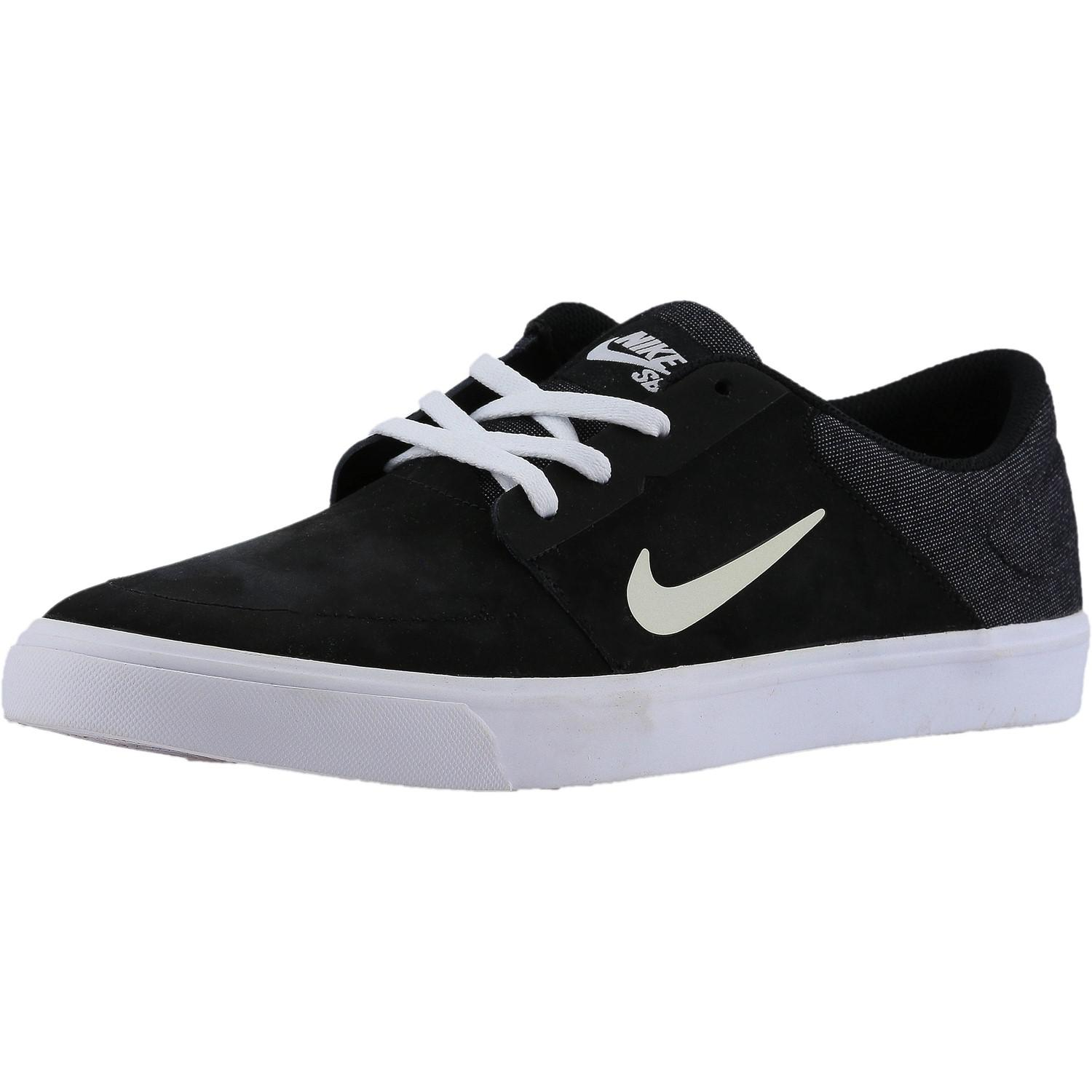 01731f0e6dee Lyst - Nike Sb Portmore Nb Black   White Ankle-high Canvas ...