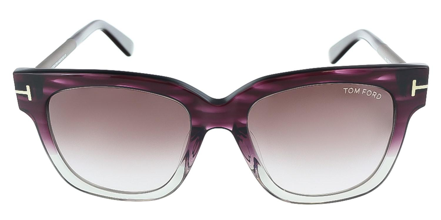 a24a75265008 Lyst - Tom Ford Tracy Tf 436 83t Clear Havana Purple Gray Gradient ...