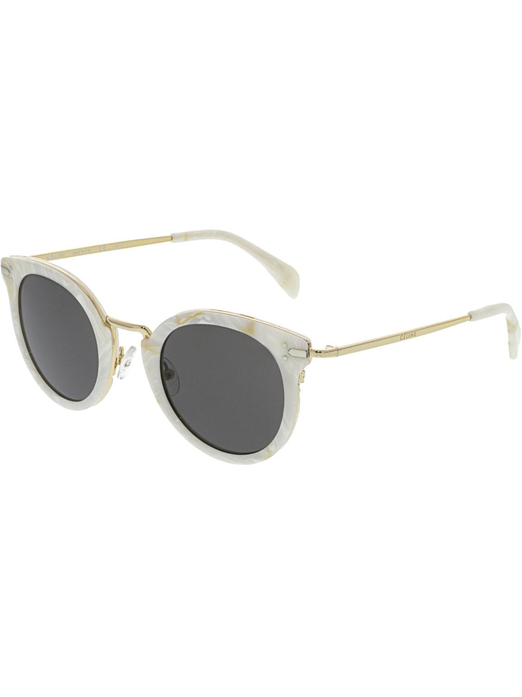 0f1fa1682fbd Lyst - Céline Cl41373s-23f-48 White Oval Sunglasses in White - Save 28%