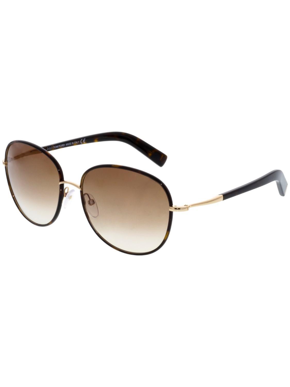 9de7b72ea3 Lyst - Tom Ford Gradient Georgia Oval Sunglasses in Brown - Save 5%