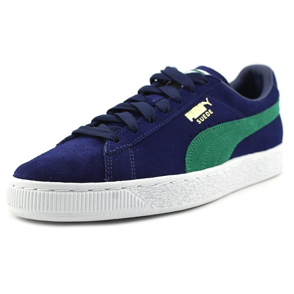PUMA Men's Suede Classic Fashion Sneaker, Blue Depths-verdant Green, 9 D(M) US