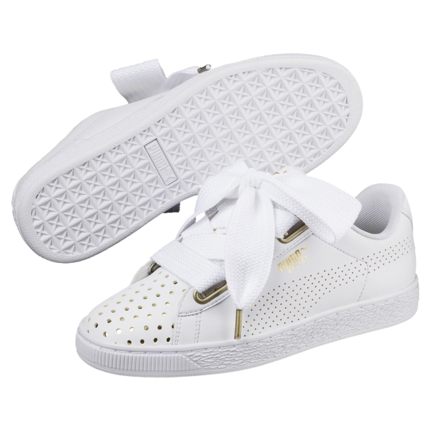c63661e0acf5 Lyst - PUMA Basket Heart Ath Lux Sneakers in White