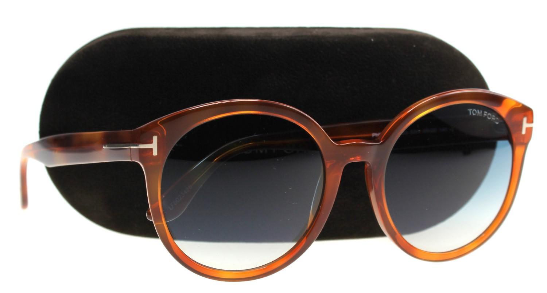 65be99a993f Lyst - Tom Ford Sunglasses Philippa Tf 503 Ft 53w Blonde Havana ...