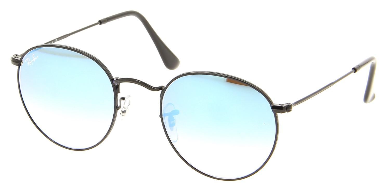247fb630be7 Lyst - Ray-Ban 0rb3447 002 4o 50 Shiny Black mirror Gradient Blue ...