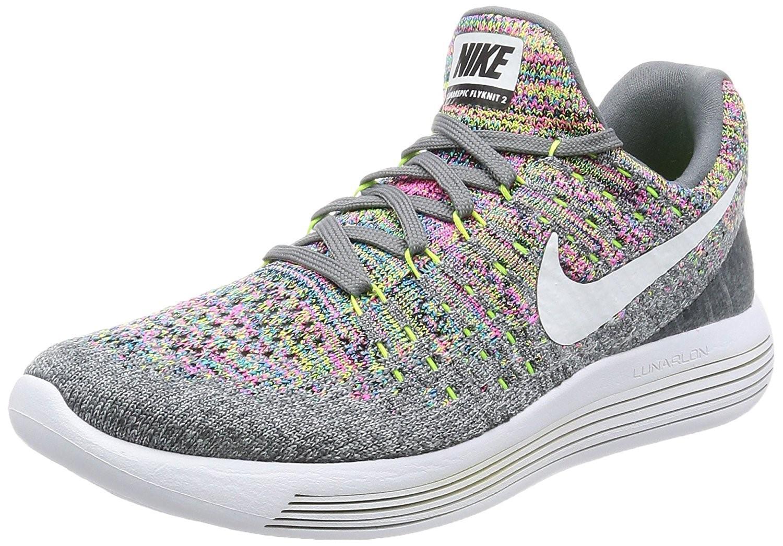 Nike. Women's Gray Lunarepic Low Flyknit 2 Running Shoe