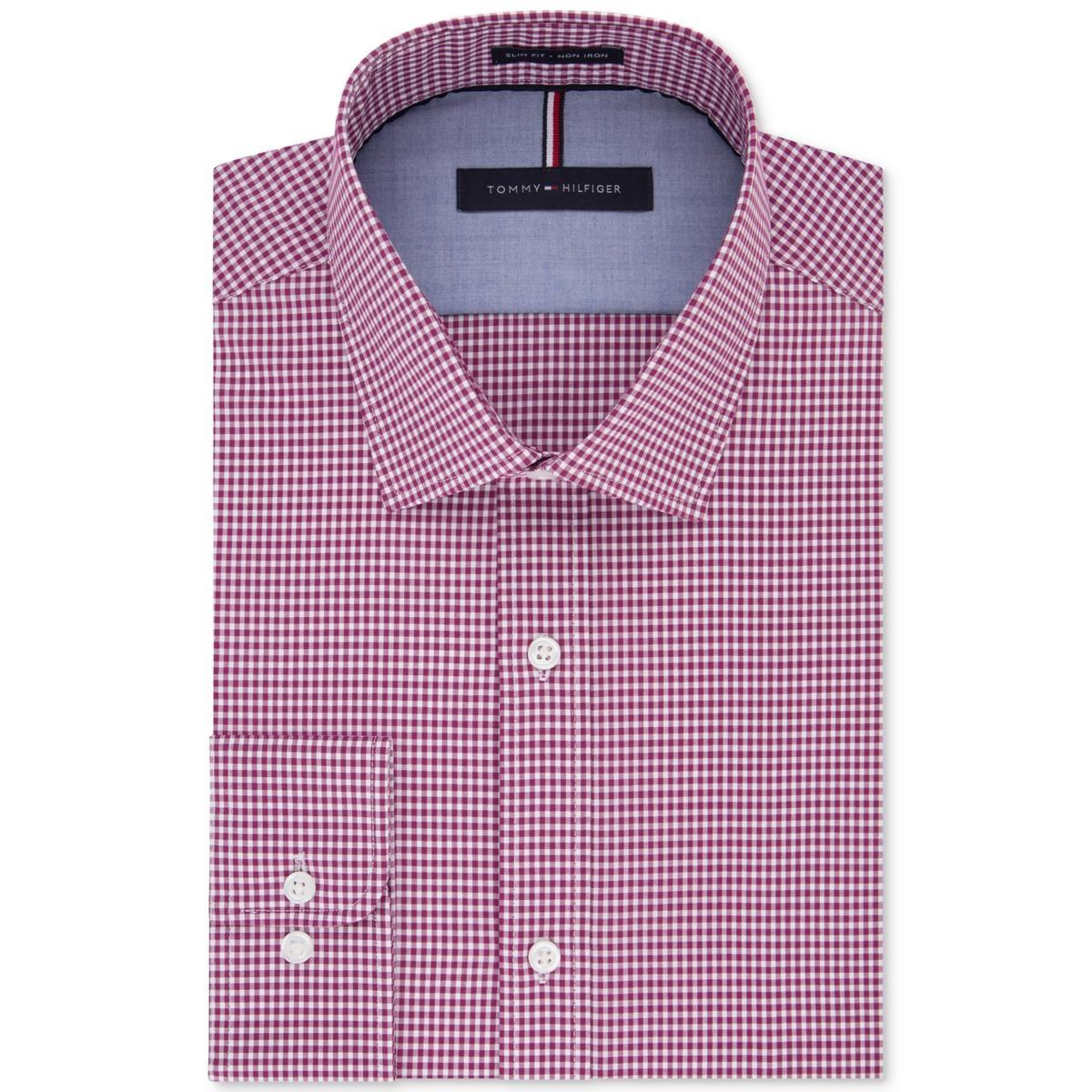 6dab023284a Tommy Hilfiger - Pink Big   Tall Gingham Non-iron Button-down Shirt for.  View fullscreen