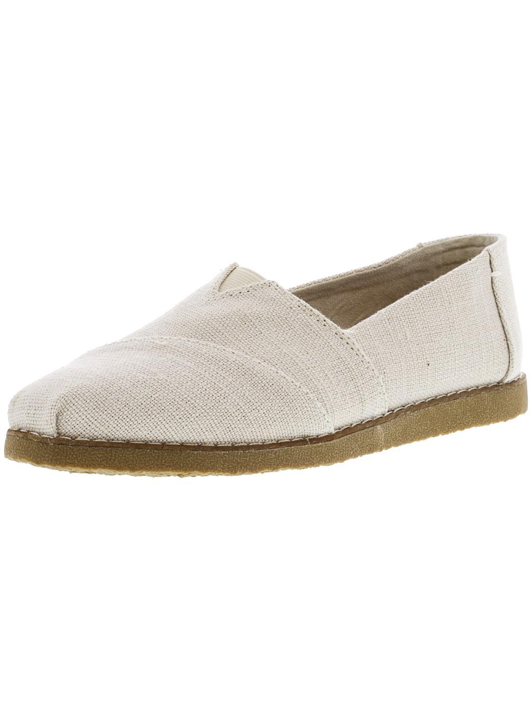 6f4e5f44df TOMS. Men s Natural Alpargata Crepe Heritage Canvas Ankle-high Slip-on Shoes  ...