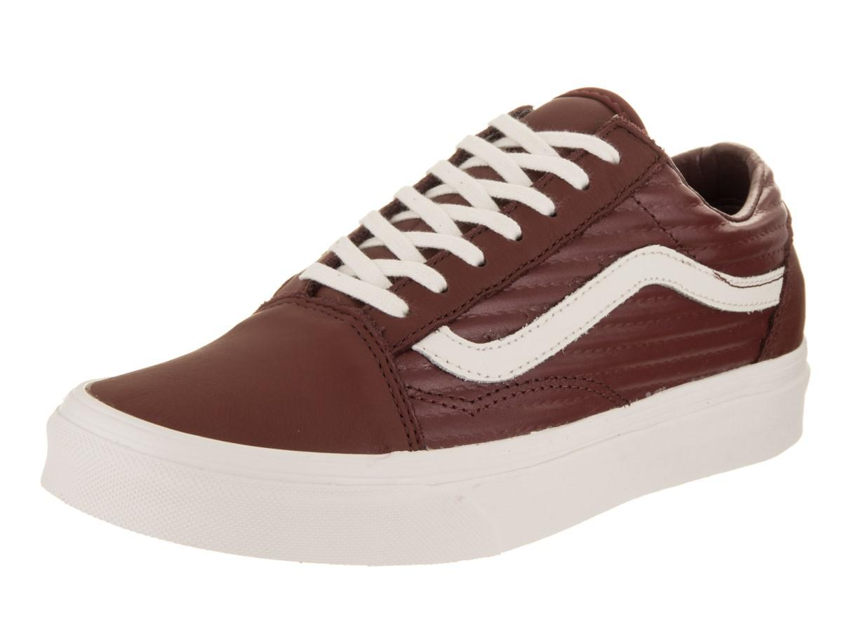 f8fd56a9075 Lyst - Vans Unisex Old Skool (moto Leather) Madder Brown blanc De ...
