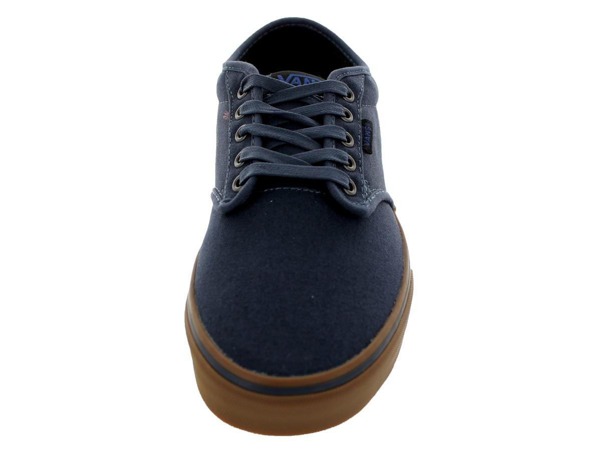 ba7b6bc36a0 Lyst - Vans Atwood (12 Oz Canvas) Navy gum Skate Shoe 6.5 Men Us in ...