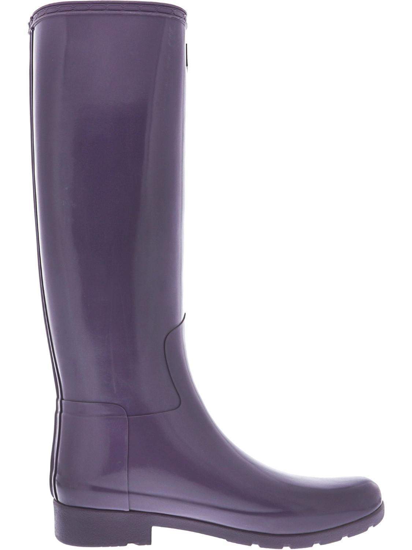 69b766c9a Lyst - HUNTER Original Refined Knee-high Rubber Rain Boot - 8m in Purple