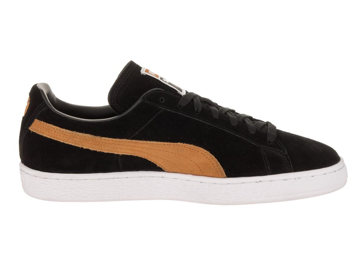 new products c1032 b1239 PUMA - Suede Classic + Black Inca Gold Casual Shoe 4 Men Us for Men - Lyst