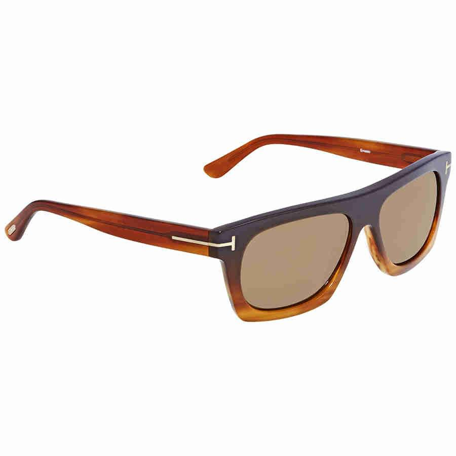 ac4595a9d0 Lyst - Tom Ford Brown Rectangular Sunglasses Ft 0592 50e in Brown