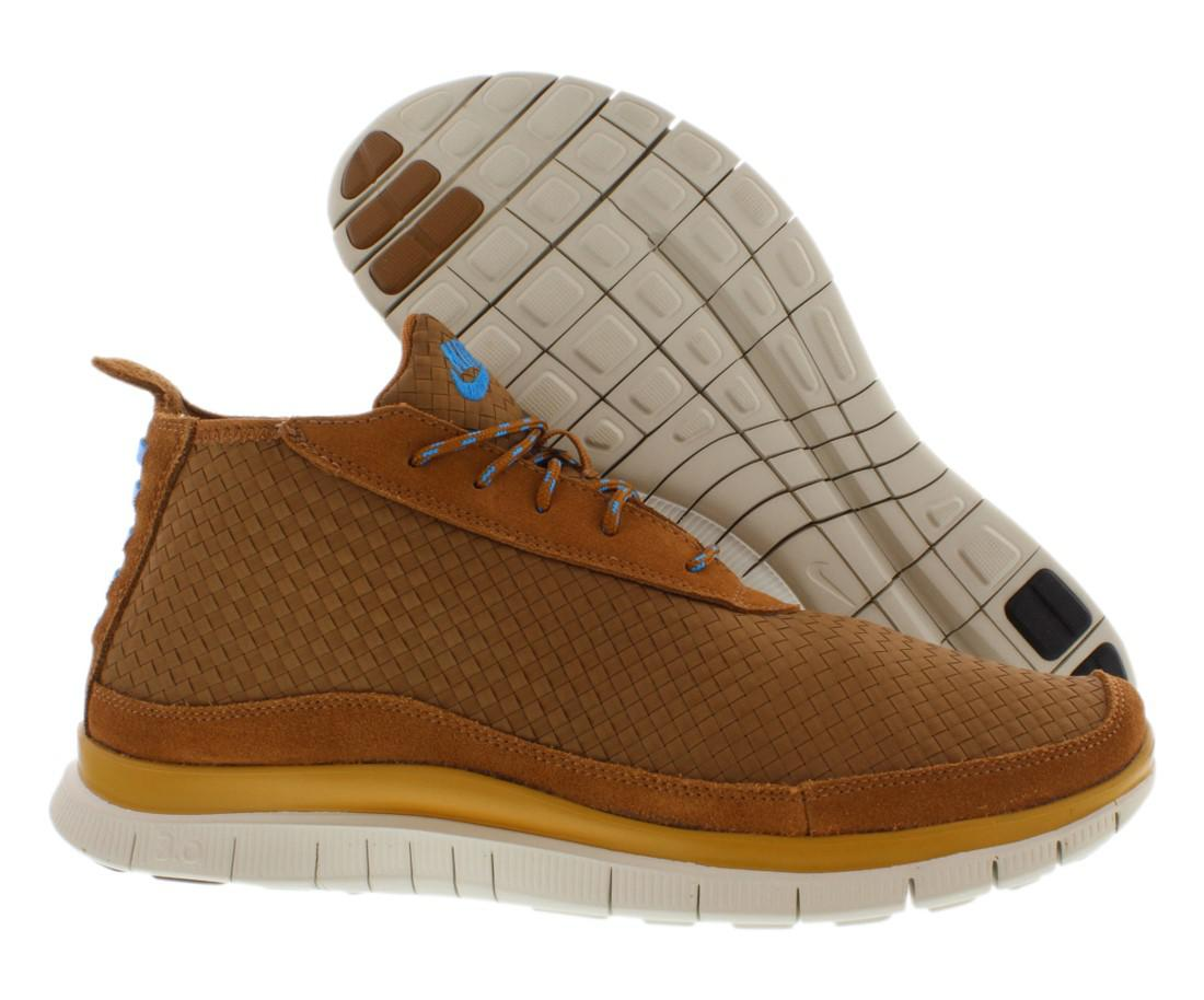 outlet store 5456b 59a54 Lyst - Nike Free Flyknit Chukka Running Shoes Size 8.5 in Brown for Men