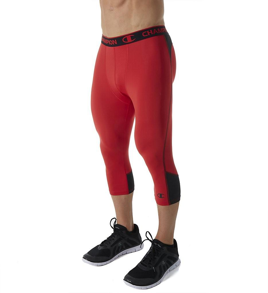 243c0d6d2fe4 Lyst - Champion P0292 Powerflex Perfomance 3 4 Tight in Red for Men