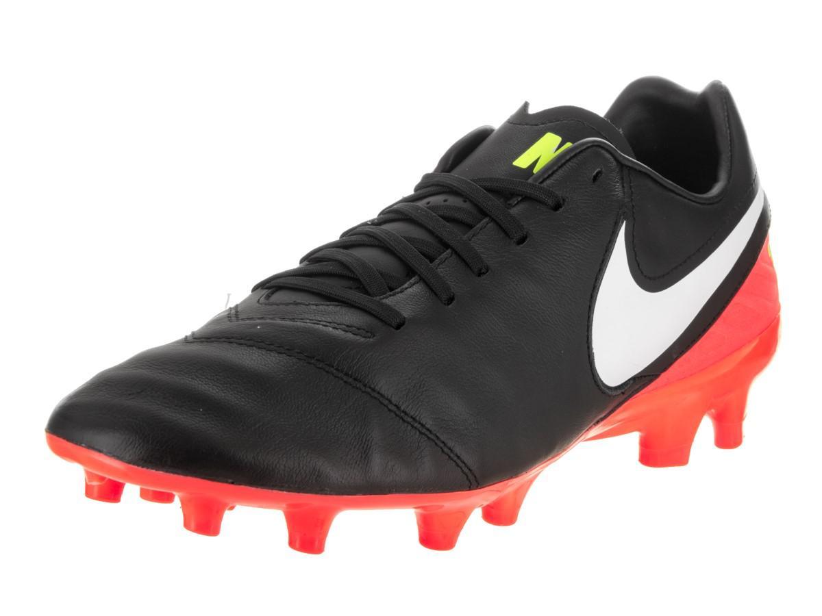 Lyst - Nike Tiempo Mystic V Fg Black white Hyper Orange Volt Soccer ... 399522078