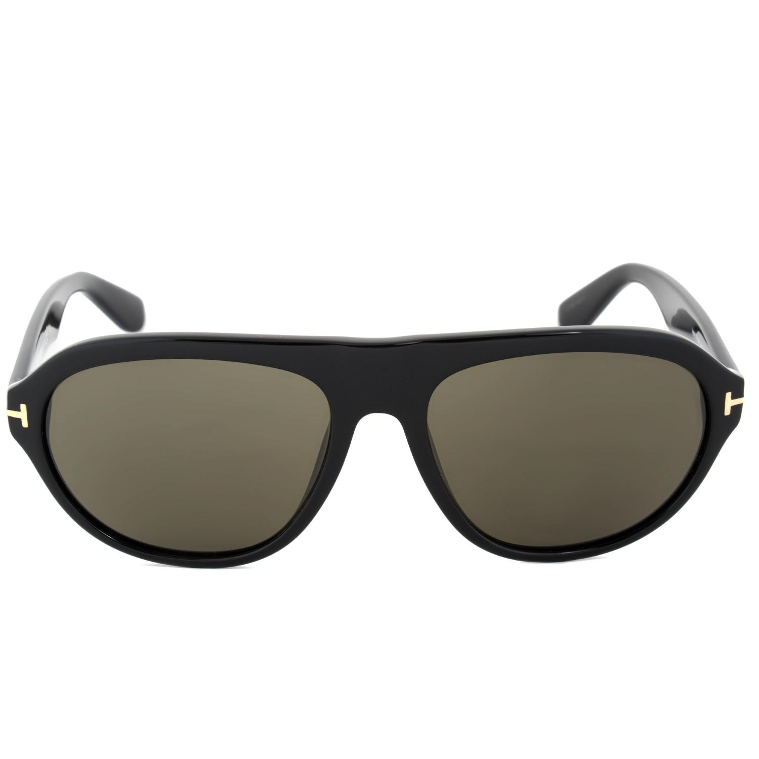 e5ab6fa6a5cd Lyst - Tom Ford Oval Sunglasses Tf397 Ivan 01n Ft0397 in Black - Save 3%