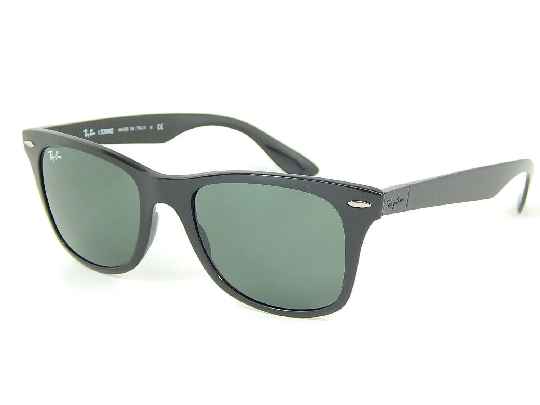 cd6add81f5 Lyst - Ray-Ban 0rb4195 601 71 52 Black green Wayfarer Liteforce Tech ...