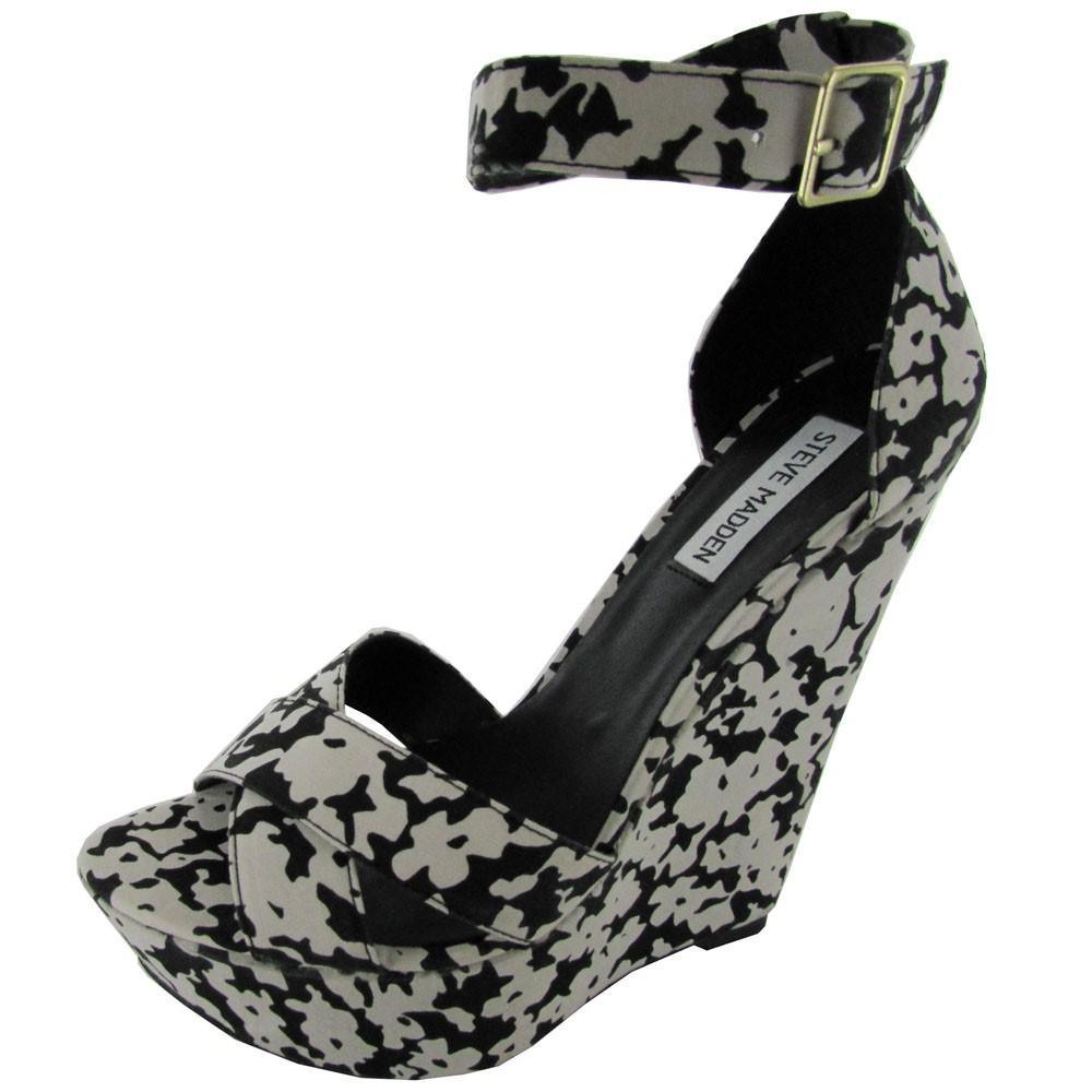 9fa1f12fc46 Lyst - Steve Madden Womens Xenon Ankle Strap Wedge Sandal