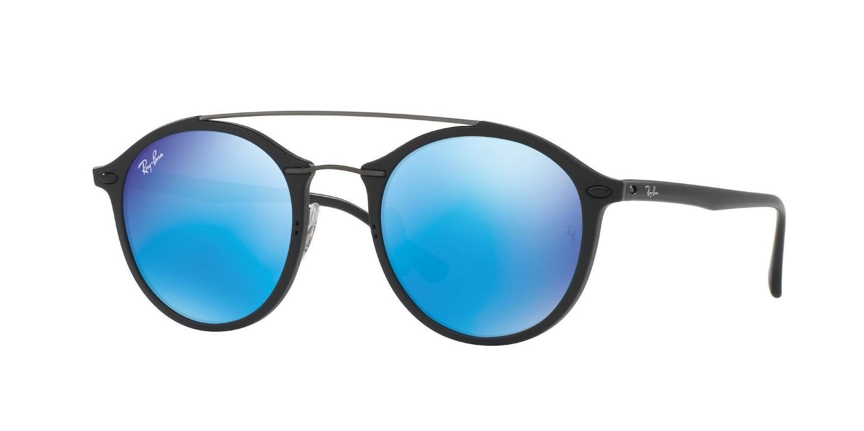 7b4d31d9e88 australia ray ban. womens 0rb4266 601s55 49 matte black light green mirror  blue tech sunglasses
