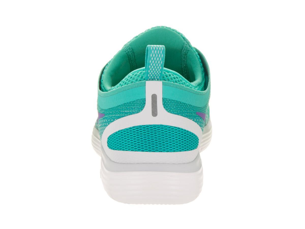 55d84d14eb76 Lyst - Nike Free Rn Distance 2 Light Aqua hyper Grape Running Shoe ...