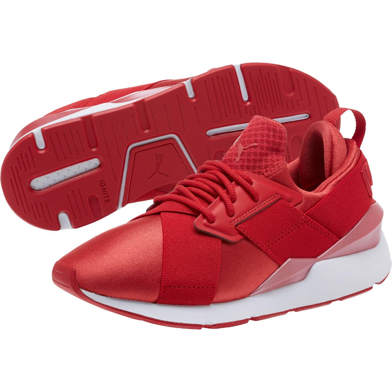 a53520e7f63b Lyst - Puma Muse Satin Ep Pearl Sneakers in Red