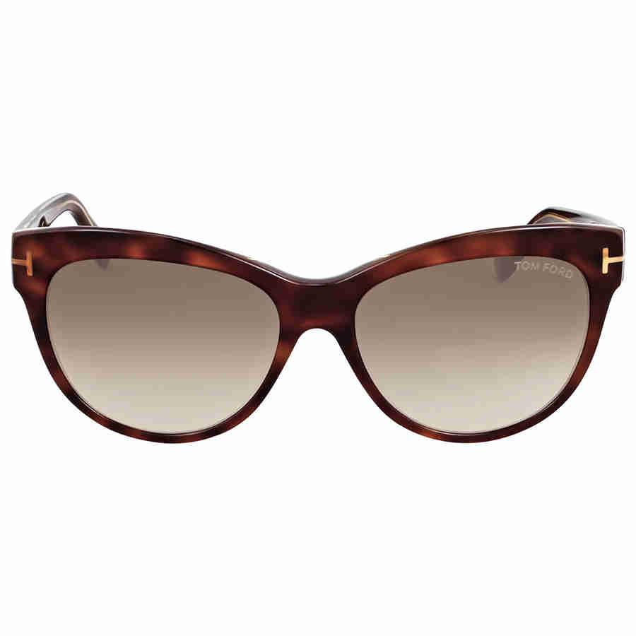 0edcb26b34f8 Lyst - Tom Ford Ft0430 Lily Cateye Sunglasses in Brown