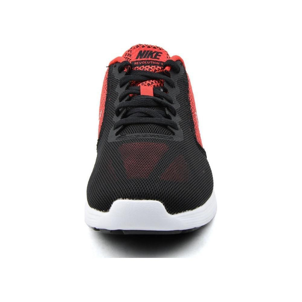 6a3d6c8a786 Lyst - Nike 819300-600  Revolution 3 Red Black White Silver Running ...