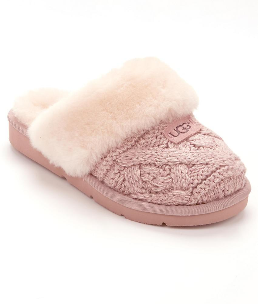 Cozy In Lyst Pink Cable Knit Ugg Slippers AqXW8wfP
