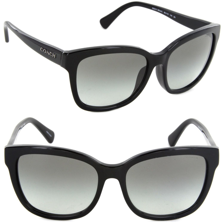 a6e5663d37 ... inexpensive lyst coach hc8219f 500211 56 square sunglasses black grey  gradient f666a 9499c