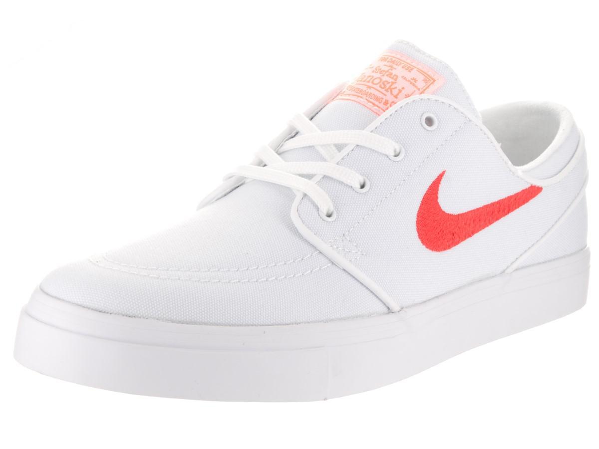 new styles 15061 4e489 Nike Unisex Sb Zoom Janoski Canvas Cpsl White max Orange white Skate ...