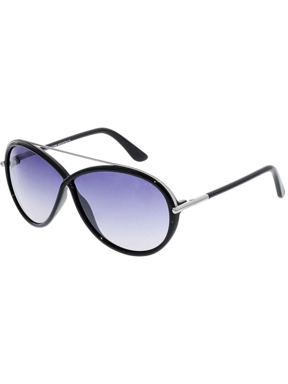 d7381139da77 Lyst - Tom Ford Mirrored Tamara Butterfly Sunglasses in Black - Save 15%