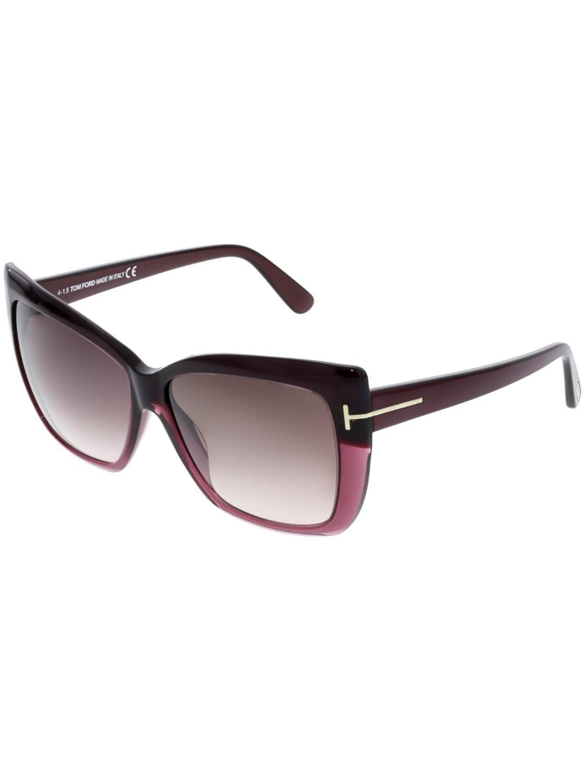 fd69bfcf80 Lyst - Tom Ford Mirrored Irina Ft0390-80b-59 Cat Eye Sunglasses ...